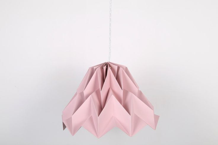 Paralume Fuji Pink Piggy // lampada origami di DearMyBear su Etsy https://www.etsy.com/it/listing/494366987/paralume-fuji-pink-piggy-lampada-origami