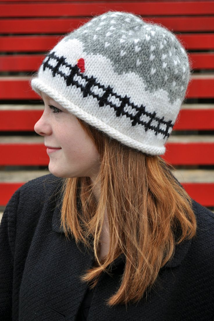 Knitting Pattern Hat In The Round : Adorable winter hat - time to learn to knit in the round ...