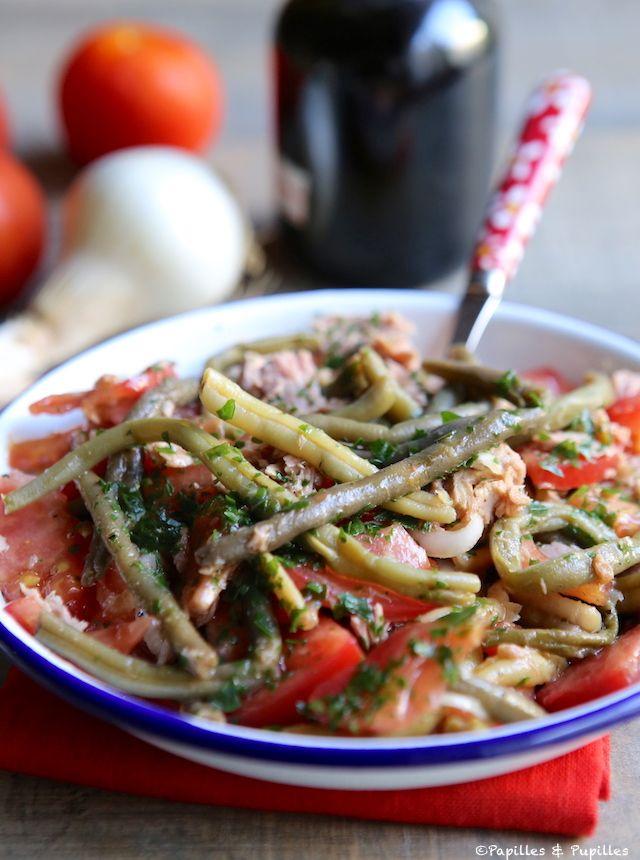 Salade de haricots verts tomate et thon