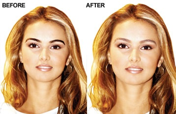Eyebrow Lightening | Godefroy Beauty Products... Dark eyebrows look way better on her and i think on anyone