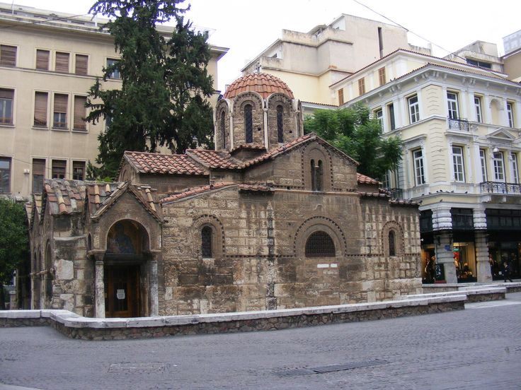 Kapnikarea Church, Athens.. The Church of Panaghia Kapnikarea is a Greek Orthodox Church one of the oldest churches in Athens. It is estimated that the church was built in the XI-th century. As it was common with the early Christian churches this was built over an ancient Greek pagan temple dedicated to the worship of a female goddess possibly Athena or Demeter.