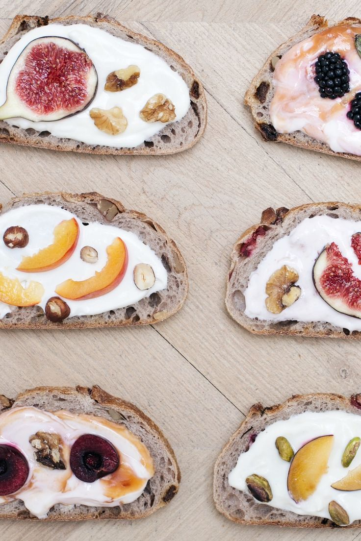 fancy toast goes beyond avocado toast with fruit, nuts, and yogurt http://larevuedekenza.fr/