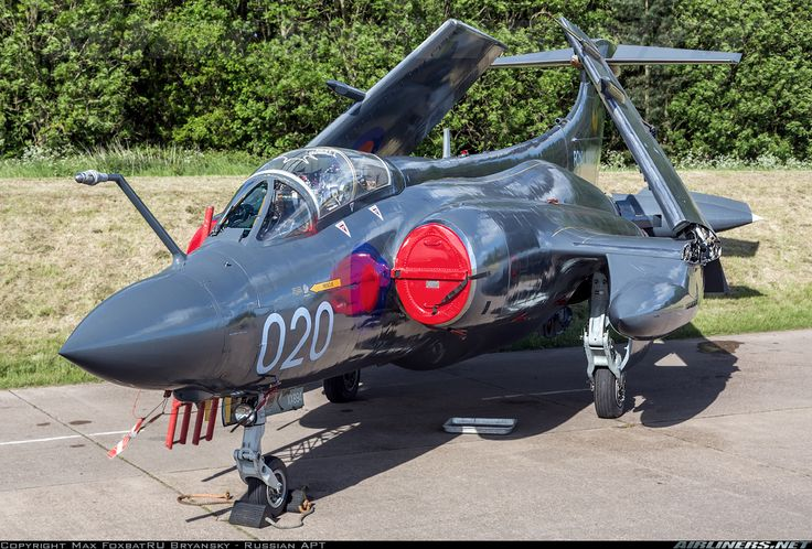 """This """"Flying Coke Bottle"""" is one of many Cold War jets that is preserved in taxiable condition at Bruntingthorpe airfield. The Blackburn Buccaneer was a Royal Navy (RN) carrier-borne attack aircraft designed in the 1950s. The Buccaneer was originally designed in response to the Soviet Union's massive Sverdlov-class cruiser construction programme. Cold War Jets Open Day. - Photo taken at Bruntingthorpe in England, United Kingdom on May 25, 2014."""