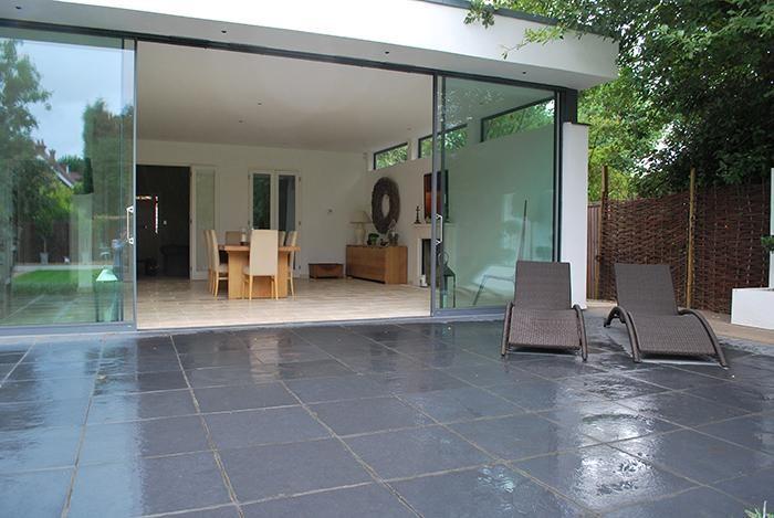 midnight black limestone paving courtyard gardens. Black Bedroom Furniture Sets. Home Design Ideas