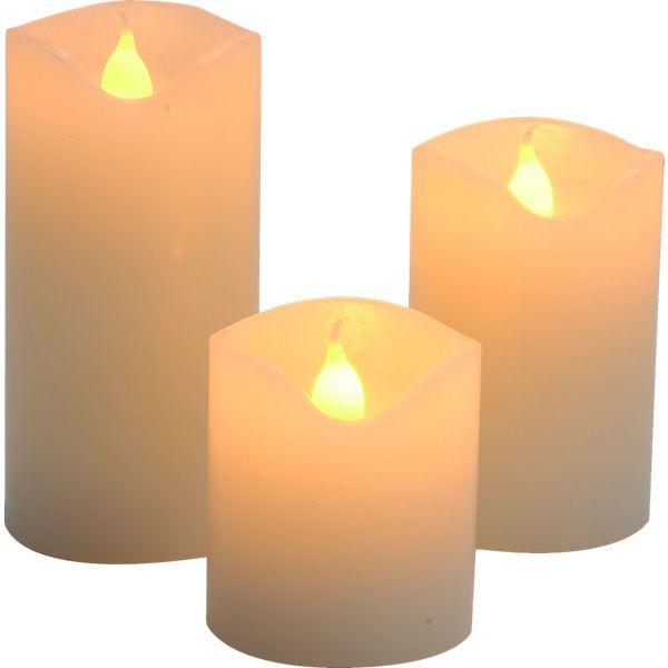 3 Tlg Led Kerzen Set Led Kerzen Kerzen Und Led