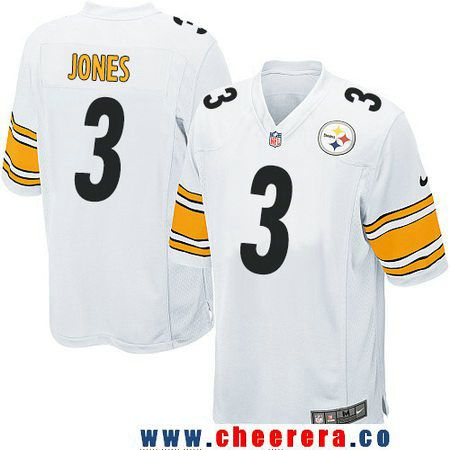 ... Mens Pittsburgh Steelers 3 Landry Jones White Road Stitched NFL Nike  Game Jersey. Jordan BerryPittsburgh ... 48197d434