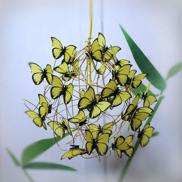 """Lampara con mariposas amarillas """"Sunny Day"""""""