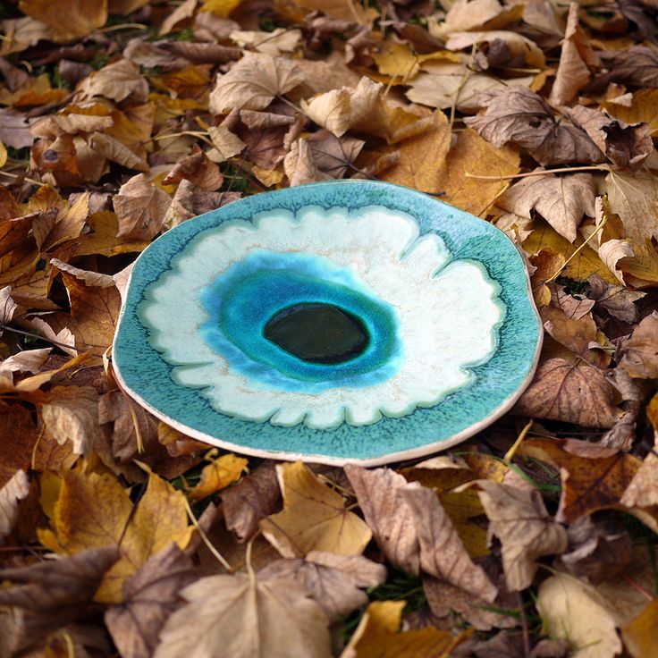 Ocean 11 decorative ceramic plate inspired by nature. 100% handmade work.