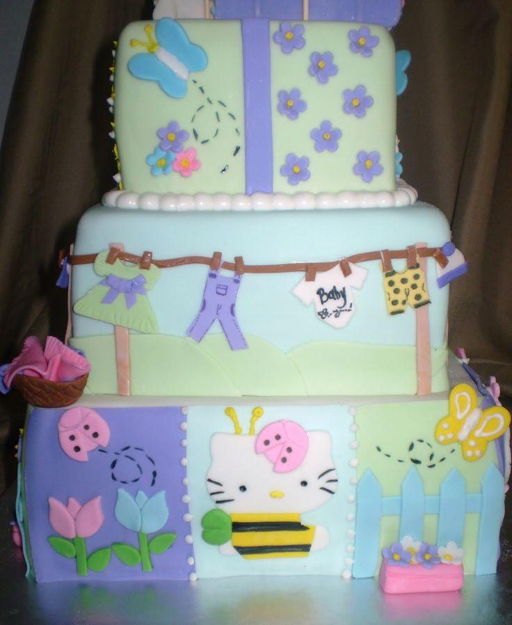 Lovely Hello Kitty Baby Shower Cake