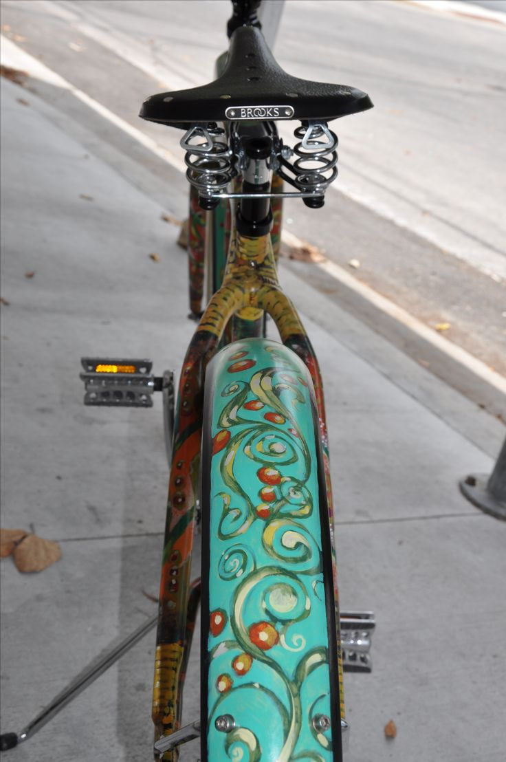 Hand Painted Art Bicycle by Jeff Beal eatonbikes.com