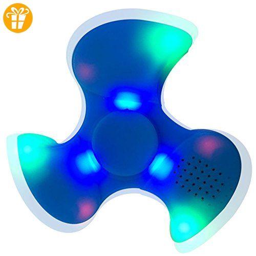 Fidget Spinner Leuchtend, Ceston 2-in-1 Fidget Spielzeug Fingerspinner LED mit Bluetooth Musik Lautsprecher Neu 2.0 Generation (2.0_Blau) - Fidget spinner (*Partner-Link)