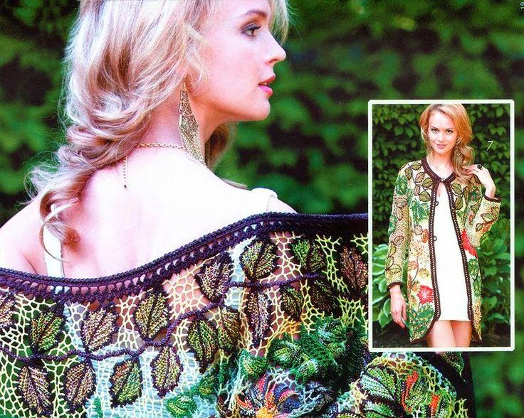 "Irish crochet &: Нина Мурашова. Пальто. МК цветов ""Crazy-wool"""