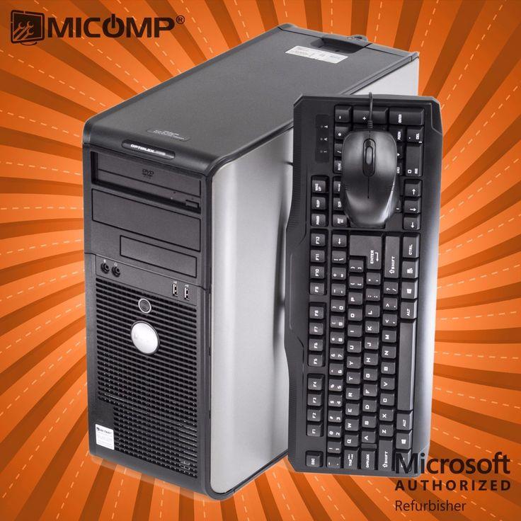 fast dell tower windows 10 computer pc core 2 quad cpu 6gb 500gb dvdrw burner