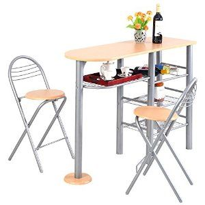 Pub Dining Set Counter Height 3/5 Piece Table and Chairs Set (3pc) #Home #Kitchen #Furniture #dining