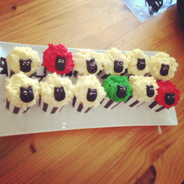 Where Is The Green Sheep? Cupcakes