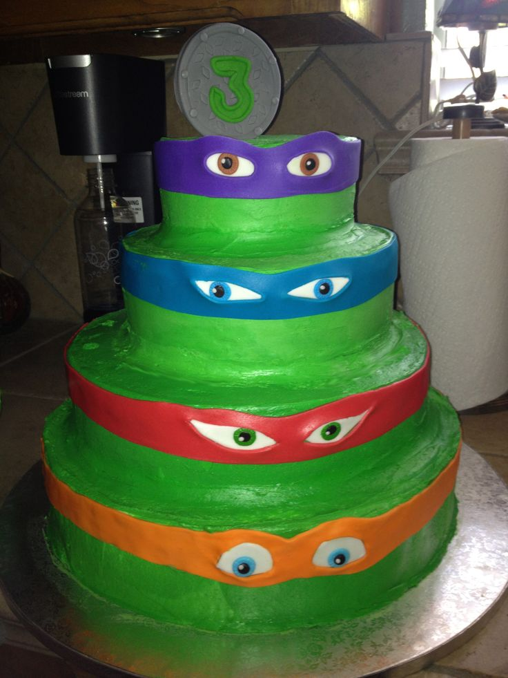 ... TMNT cake  Kirstens Cakes  Pinterest  Triplets, Boys and Cakes