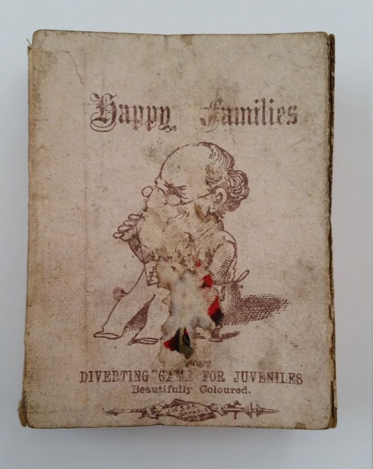 Rare Antique Happy Families Card Game By J.W.S & S Bavaria (Spears Games). Early Spears Games Happy Families. Early Antique Happy Families by OnyxCollectables on Etsy