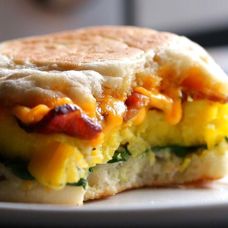 Microwave Prep Breakfast Sandwiches by Tasty