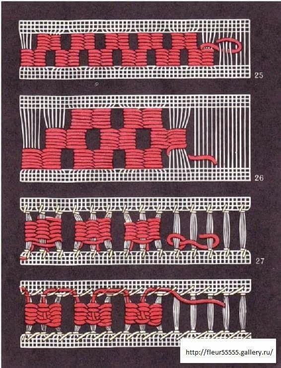 deshilados/ Maria L.Bertolino/ www.pinterest.com...