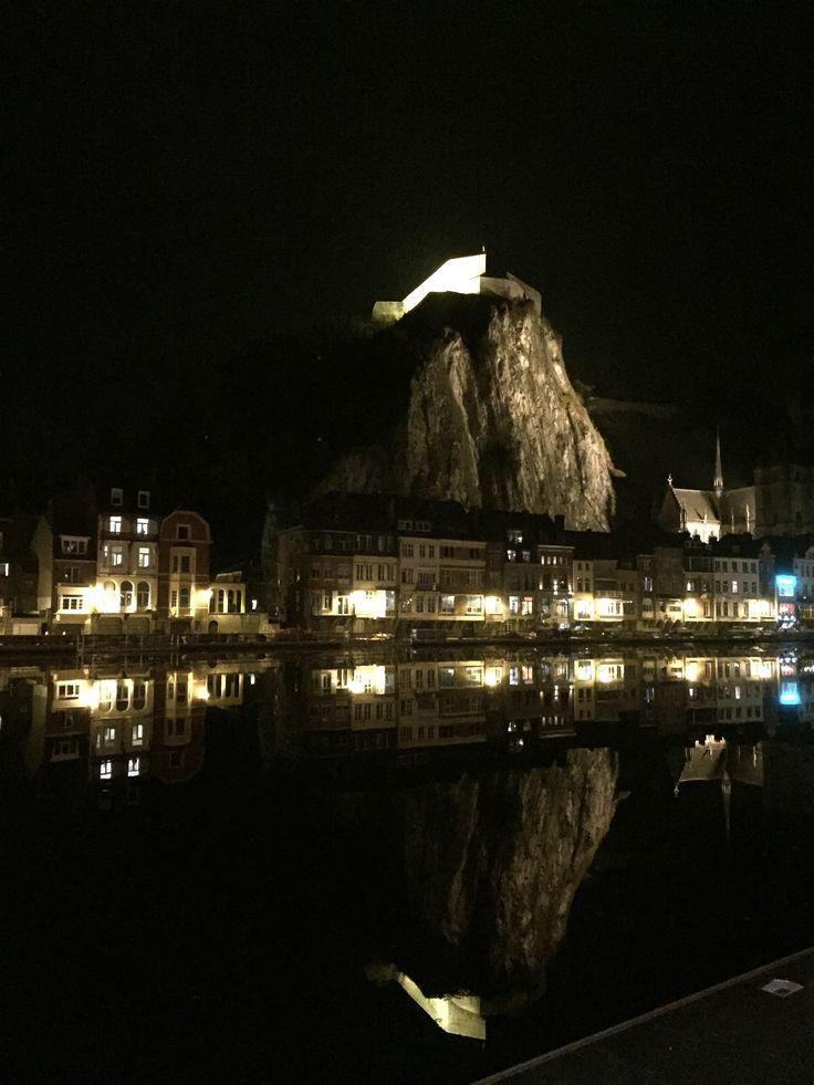 Dinant, Belgium,by night