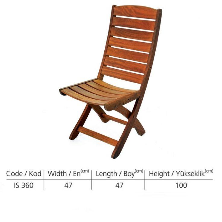 Katlanabilir kolsuz sandalye