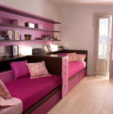 "<p>Trying to squeeze more than one child into a long, narrow room? Instead of placing beds side by side, try setting them up back to back. In this smart design, they're separated with a narrow chest of drawers and made up like daybeds. <a rel=""nofollow"" href="" http://www.bobvila.com/secret-compartment/46819-storage-where-you-least-expected-it-10-sly-spots-to-stash-your-stuff/slideshows?bv=ymal""…"