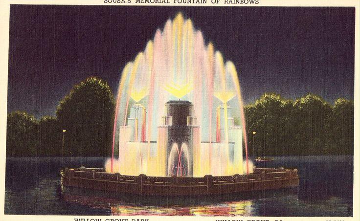 Sousa's Memorial Fountain of Rainbows,Willow Grove Park - Willow Grove,Pennsylvania