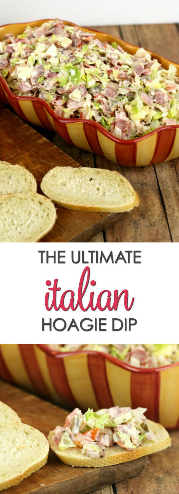 This easy Italian Hoagie Dip recipe is one of my family's all-time favorite recipes. It has everything that an Italian Hoagie has on it but it's chopped up and served as a dip. Every time I make it, it gets devoured! via @itsakeeperblog