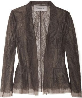 ShopStyle.fr: Valentino Lace and tulle blazer 870,86 €