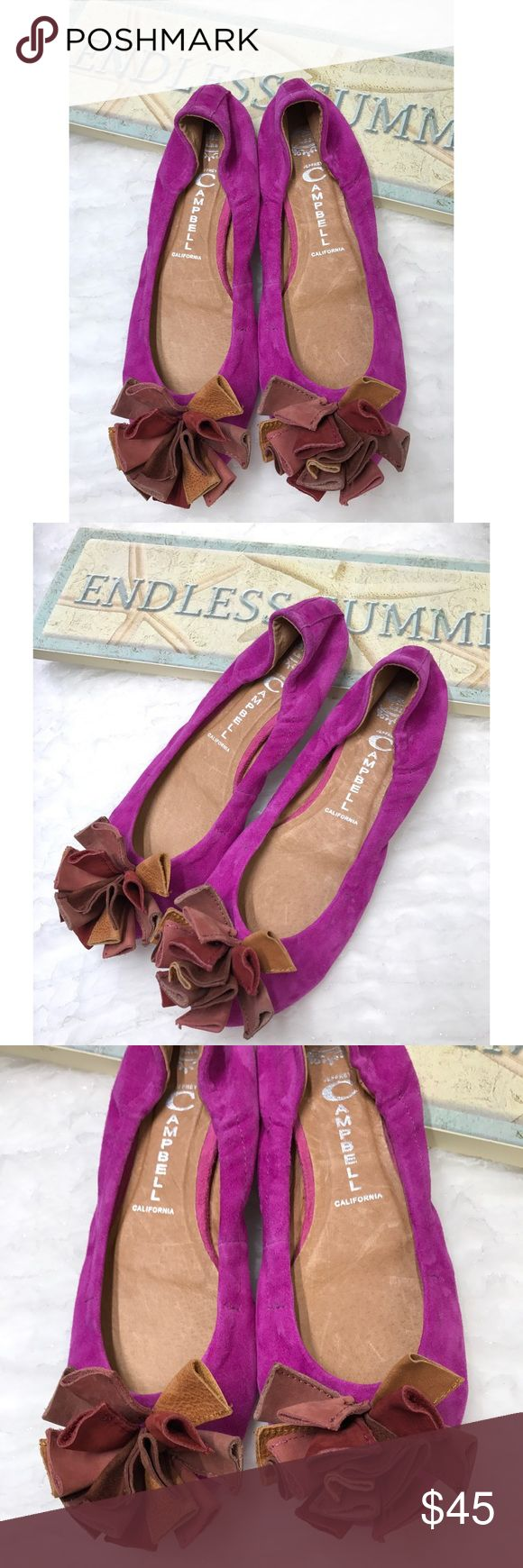 Jeffrey Campbell Pink/ Purple Suede Flats Beautiful and colorful ballet flats. Color is a very vibrant pink with a hint of purple and will definitely make you stand out. Perfect touch to your outfit. These shoes are in excellent like new conditions. Jeffrey Campbell Shoes Flats & Loafers