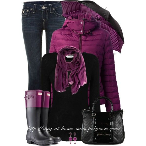 """""""Hunter Original Color Block Rain Boots"""" by stay-at-home-mom on Polyvore"""