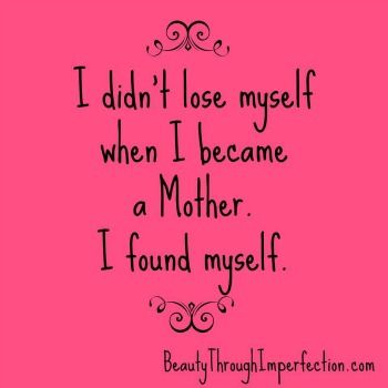 SUCH a great and encouraging post! Being a mother doesn't mean you lose yourself as a person.