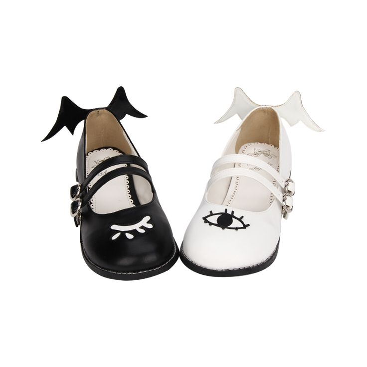 Japanese Kawaii Fashion Flats on Mori Girl の森ガール.Harajuku Demon Mysterious Eye Flats Lolita Girly Pu Shoes Mg528 is a must to make an amazing outfit. You can wear it in any occasion - school, office, dates, and parties.