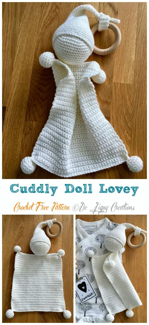 Kuschelige Puppe Lovey Häkelanleitung   – Crochet and Knitting