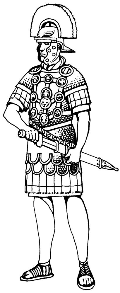 roman soldier coloring page - roman soldier centurion helmet sketch coloring page