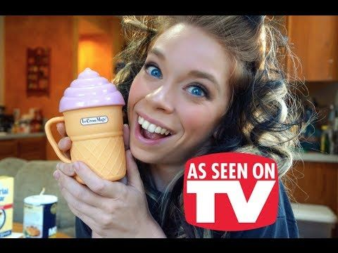 ICE CREAM MAGIC- DOES THIS THING REALLY WORK? - YouTube this girl has toooo much time!