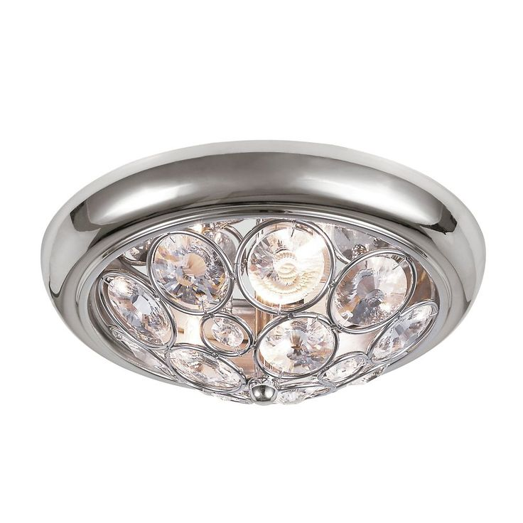 Chrome with Crystal 11 inch Ceiling Fixture