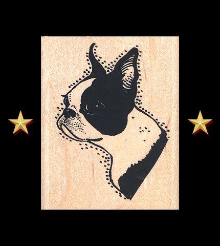 Boston Terrier wall art or pillow