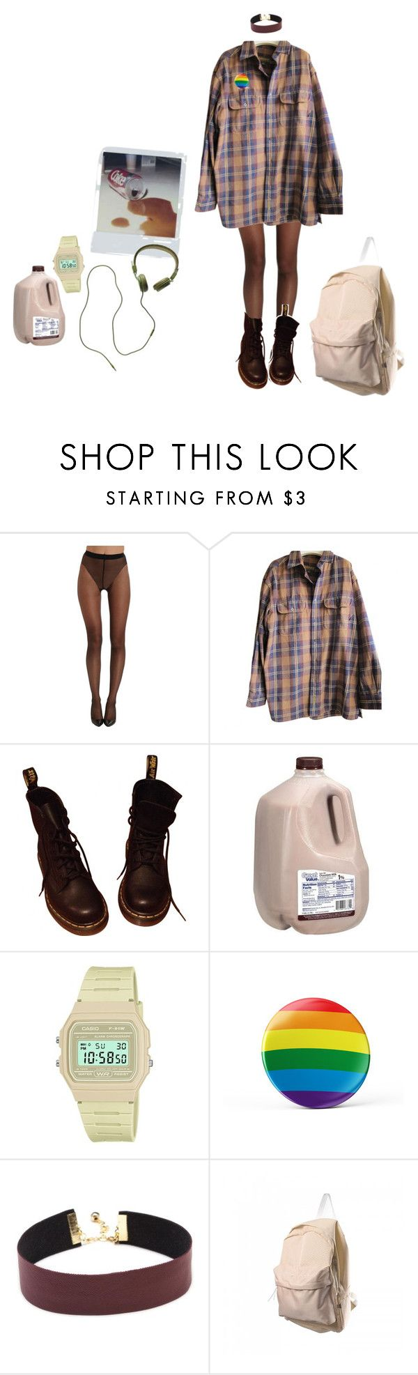 """chilling"" by wonder-land-i ❤ liked on Polyvore featuring Wolford, Timberland, Dr. Martens, Casio, Andy Warhol and Madewell"