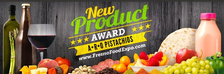 """Gourmet ARO Pistachios receives """"People's Choice"""" New Product Award by Fresno Food Expo! The Power Trio was voted best in food innovation and package design. www.fresnofoodexpo.com"""
