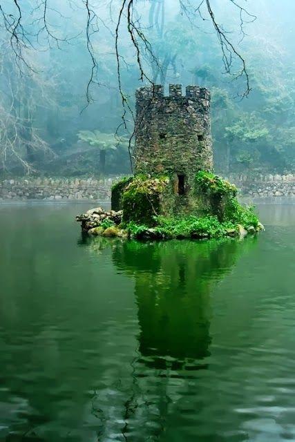 Mini Castle in a Lake