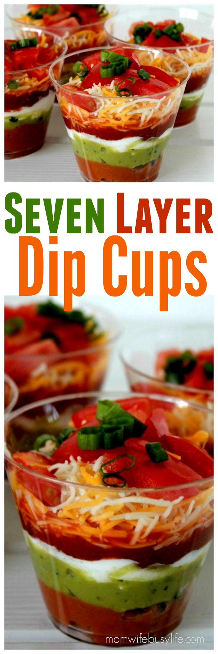 Seven Layer Dip Cups | Appetizer Recipes | 7 Layer Taco Dip