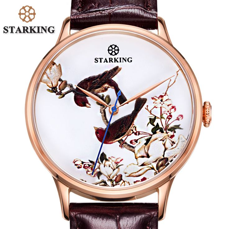 >> Click to Buy << STARKING Luxury Men Dress Watches Rose Gold Male Stainless Steel Wrist Watches Retro Classic Men Automatic Watch Panske Hodinky #Affiliate