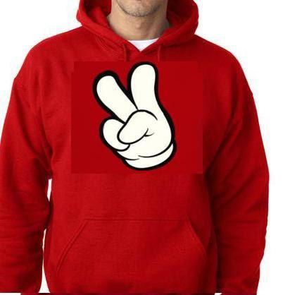 hoodiescartoon hand peace fingers funny hoodie by tshirtsdepo, $34.99