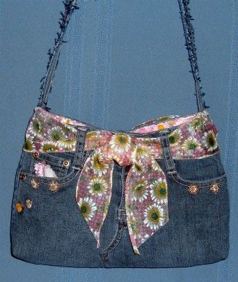 make purses out of old jeans  . . .my new project after i loose some weight.