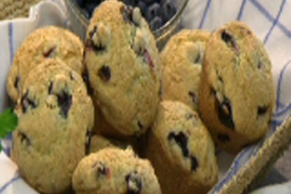Mother Meg's Blueberry Muffins courtesy Katie Brown Workshop, one of my favorite Create TV hosts!