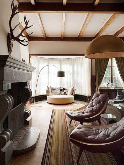 #Foscarini Twiggy floor lamp, #Flos Skygarden pendant: Decor, Interior Design, Chair, Idea, Living Rooms, Livingroom
