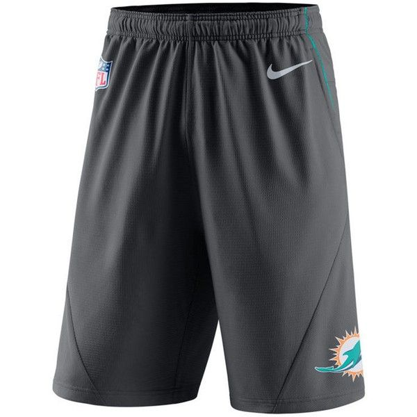 Nike Men's Miami Dolphins Fly Xl 5.0 Shorts ($55) ❤ liked on Polyvore featuring men's fashion, men's clothing, men's activewear, men's activewear shorts, anthracite, mens activewear shorts and mens activewear