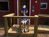building a handicap ramp and landing