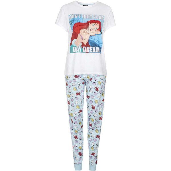 TopShop Petite Ariel Pyjama Set ($35) ❤ liked on Polyvore featuring intimates, sleepwear, pajamas, pyjama, blue, blue pajamas, petite pajamas, cotton pajama set, petite pajama sets and cotton pjs